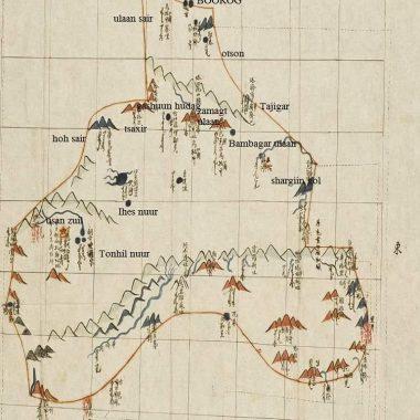 Дайчин засгийн хошуу (Засагт хан аймаг) газрын зураг