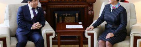 Дэд сайд Б.Батцэцэг БНСУ-ын элчин сайдыг хүлээн авч уулзав