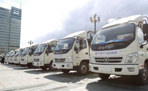 Нийслэлийн есөн дүүрэгт өнөөдөр хог тээврийн шинэ машинуудыг хүлээлгэн өглөө