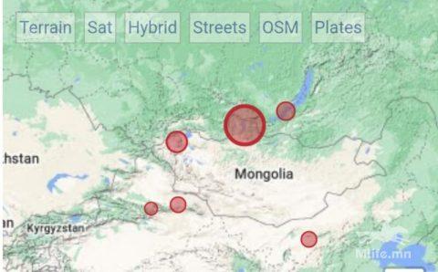 Дорноговь аймагт 3.6 магнитудын хүчтэй газар хөдөлжээ